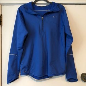 Blue Nike Dri-Fit Hooded Pullover